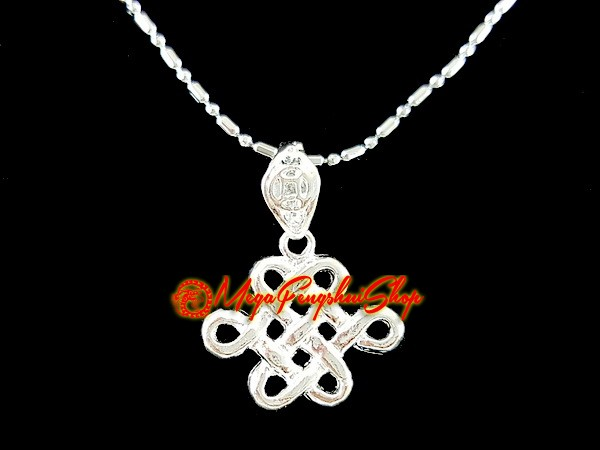 Mystic knot good luck charm pendant 925 silver aloadofball Gallery