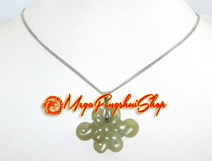 Mystic knot pendant necklace jade mozeypictures Image collections