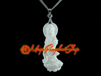 Kuan yin pendant white coral goddess kuan yin pendant white coral aloadofball Gallery