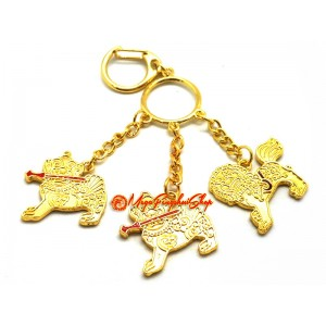 3 Celestial Guardians with Implements Keychain