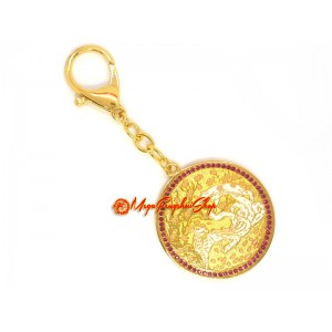 9-Tailed White Fox Amulet for Keychain