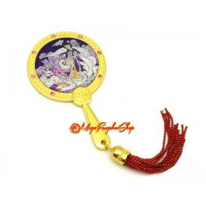 9-Tailed White Fox Love Feng Shui Mirror