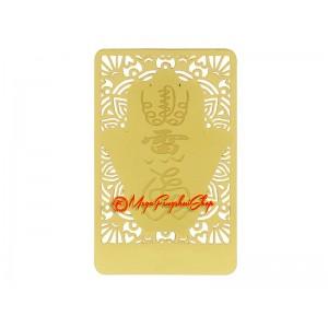 Anti-Jealousy Gold Talisman Feng Shui Card