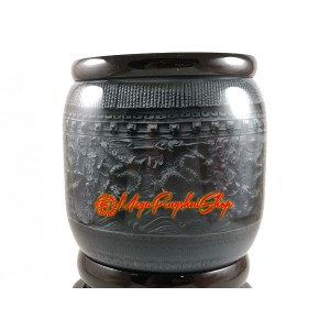 Auspicious 9 Dragons Revolving Pen Holder