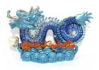 Bejeweled Blue Feng Shui Dragon