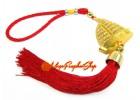 Bejeweled Feng Shui Wealth Ship Tassels