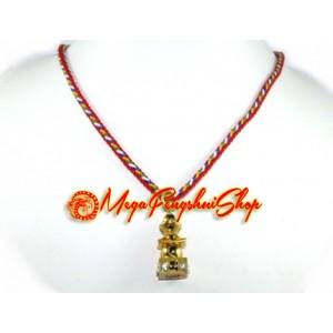 Bejeweled Five Element Pagoda Feng Shui Pendant (Gold)