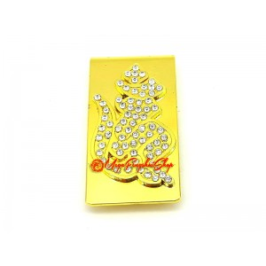 Bejeweled Money Clip with Hum Syllable
