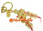 Bejeweled Money Frog with Coins Keychain