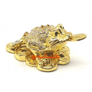 Bejeweled Wish-Granting Money Frog for Wealth Luck
