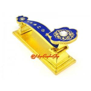 Blue Ru Yi With Eight Auspicious Symbols