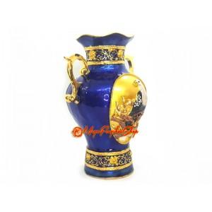 Blue Treasure Feng Shui Vase with Eagle