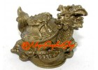 Brass Feng Shui Dragon Tortoise on Wealth
