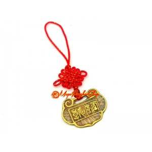 Brass Feng Shui Lock Coin for Wealth
