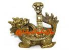Brass Fengshui Dragon Tortoise with Ru Yi
