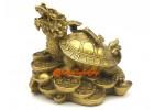 Brass Fengshui Dragon Tortoise with Ruyi (m)