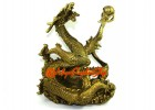Brass Imperial Feng Shui Dragon for Success Luck