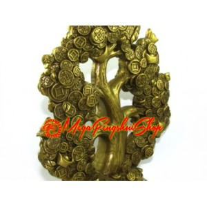 Brass Money Tree Sprouting Coins