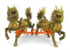 Brass Pair of Majestic Guardian Kei Loon