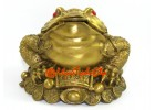 Brass Three Legged Toad on Wealth