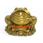 Brass Three Legged Toad on Wealth