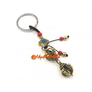 Brass Tibetan Dorje Keychain