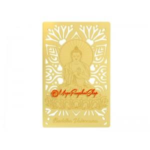 Buddha Vairocana Gold Talisman Card