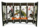 Chinese Mini Folding Screens - Birds and Flowers