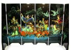 Chinese Mini Folding Screens - Eight Immortals & Magical Objects