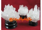 Clear Quartz Feng Shui Crystal Point Cluster