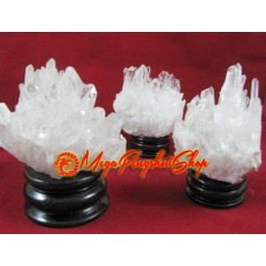 Clear Quartz Feng Shui Crystal Point Cluster