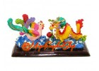 Colorful Feng Shui Dragon and Phoenix