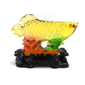 Colorful Liuli Feng Shui Arowana for Wealth Luck