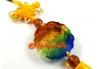 Colorful Liuli Glass Money Frog Hanging Tassels