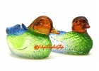 Colorful Liuli Pair of Feng Shui Mandarin Ducks