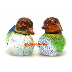 Colorful Liuli Pair of Feng Shui Mandarin Ducks