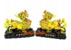 Colorful Liuli Pair of Wealth Garnering Pi Yao