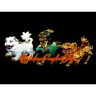 Colorful Three Divine Guardians with Implements Feng Shui Cure