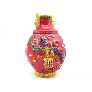 Crimson Phoenix Feng Shui Vase
