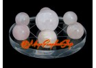 Crystal Balls on Star of David Symbol (Rose Quartz)