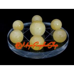 Crystal Balls on Star of David Symbol (Yellow Jasper)