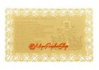 Dharani of Avalokiteshvara Printed on A Card in Gold