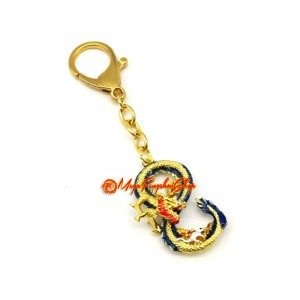 Dragon and Rat Prosperity '8' Feng Shui Keychain