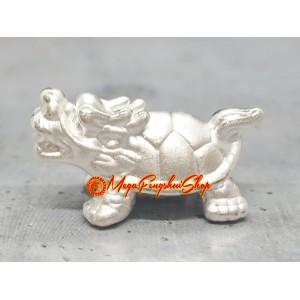 Dragon Tortoise Bead Charm - 999 Silver