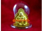Dual-sided Golden Laughing Buddha in Dome