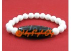 Dzi Bead with White Coral Crystal Bracelet