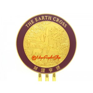 Earth Cross Mirror for Building Solid Foundation for Wealth