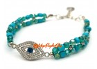 Evil Eye with Turquoise Beads Protection Bracelet