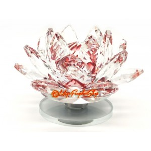 Faceted Crystal Lotus Flower (Red)