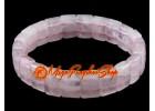 Faceted Flat Rectangular Rose Quartz Bracelet